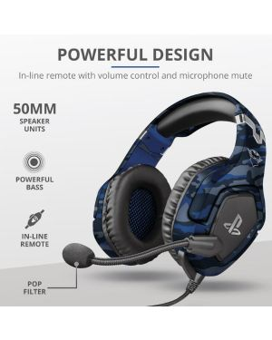 Gxt 488 forze-g ps4 headset blue Trust 23532 8713439235326 23532 by Trust
