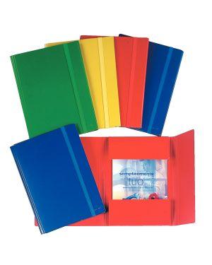 Cartelle a tre lembi con elastico piatto Colore Rosso ES_390344161
