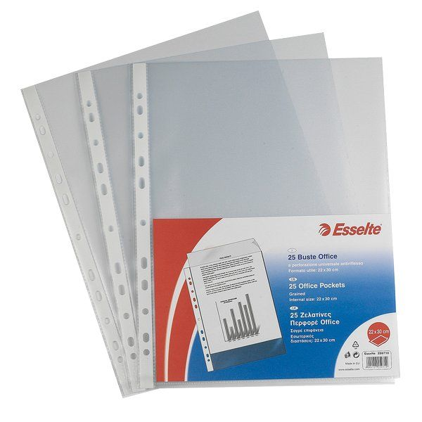 Buste a perforazione Copy Safe De Luxe Colore Trasparente ES_395097600 by Esselte