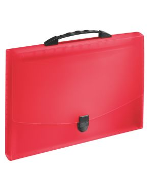 Concertina Esselte VIVIDA con maniglia, traslucida Colore Rosso VIVIDA ES_624023