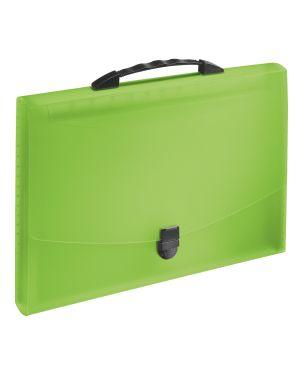 Concertina Esselte VIVIDA con maniglia, traslucida Colore Verde VIVIDA ES_624026