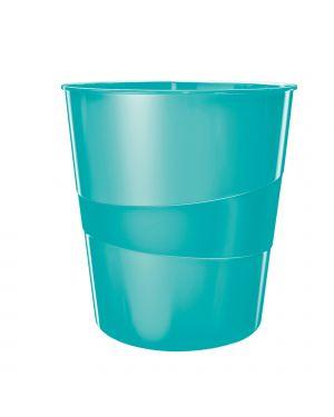 Cestino gettacarte wow azzurro acquamarina 15lt leitz 52781051 4002432104413 ES_52781051