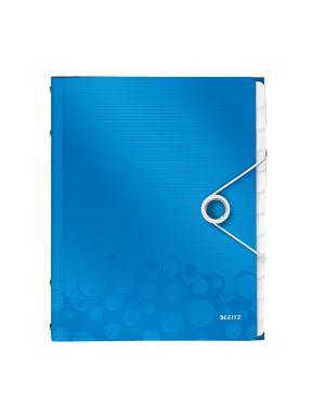 Cartella 3 lembi con elastico e 12 divisori wow blu metallizzato LEITZ 46340036 4002432106288 ES_46340036 by Leitz