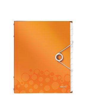 Cartella 3 lembi con elastico e 12 divisori wow arancione metallizzato LEITZ 46340044 4002432106295 ES_46340044 by Leitz