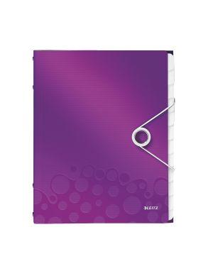 Cartella 3 lembi con elastico e 12 divisori wow viola metallizzato LEITZ 46340062 4002432106318 ES_46340062 by Leitz