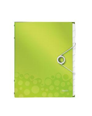 Cartella 3 lembi con elastico e 12 divisori wow verde metallizzato LEITZ 46340064 4002432106325 ES_46340064 by Leitz