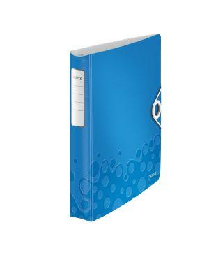 Raccoglitore ad anelli SoftClick Leitz Active WOW Colore Blu metallizzato ES_42400036 by Leitz