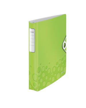 Raccoglitore ad anelli SoftClick Leitz Active WOW Colore Verde metallizzato ES_42400064 by Leitz