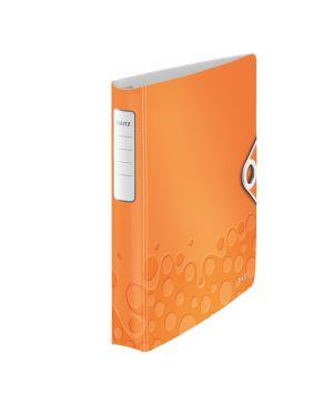 Raccoglitore ad anelli SoftClick Leitz Active WOW Colore Arancione metallizzato ES_42400044 by Leitz