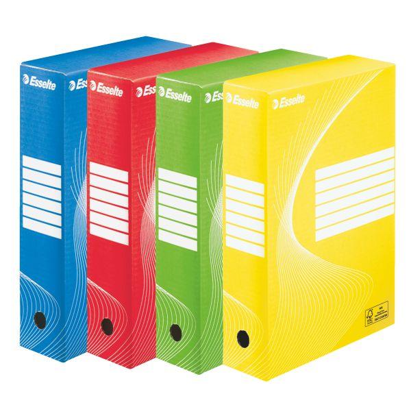 Scatola archivio standard 80 Esselte Colore Assortiti