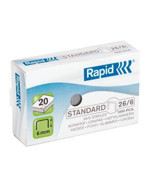 Punti 26/6 Rapid Standard Colore Bianco ES_24861300 by Rapid