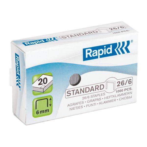 Punti 26/6 Rapid Standard Colore Bianco