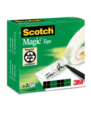 Scatola 2 rt nastro scotch® adesivo 810-1266 12mmx66mt per bordure e giunzioni 56089 3134375005906 56089_32112 by Scotch