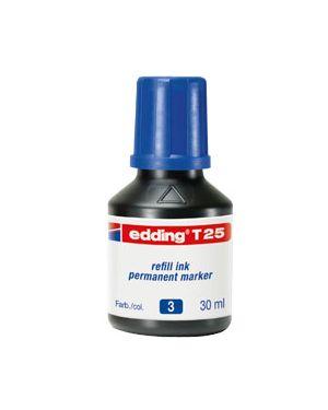 Ricarica inchiostro permanente 30ml t25 blu edding E-T25 003_73446