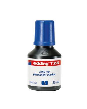 Ricarica inchiostro permanente 30ml t25 blu edding E-T25 003 4004764023882 E-T25 003_73446