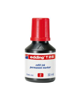 Ricarica inchiostro permanente 30ml t25 rosso edding E-T25 002_73447