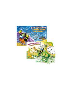 Scatola 12 biglietti portasoldi buon compleanno bizzy bees 11x17cm micart BZ2037BC-SC_67385