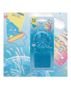 Blister 12 candeline compleanno c/supporto blu pegaso PB 921 F_73233