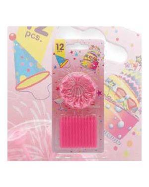 Blister 12 candeline compleanno c/supporto rosa pegaso PB 921 A_73234