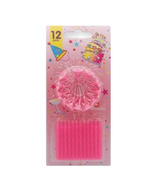 Blister 12 candeline compleanno c - supporto rosa pegaso PB 921 A 8001619109216 PB 921 A_73234