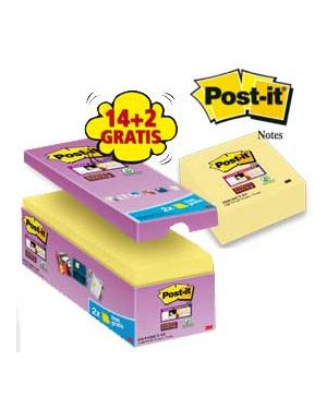 Value pack 14+2 blocco 90fg post-it®super sticky giallo canary™ 76x76mm 654-SSCY-VP16-EU_74003 by Post-it