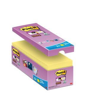 Value pack 14+2 blocco 90fg post-it® super sticky giallo canary™ 76x76mm 654-SSCY-VP16-EU 51141381008 654-SSCY-VP16-EU_74003 by Post-it
