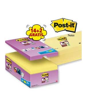 Value pack 14+2 blocco 90fg post-it®super sticky giallo canary™ 76x127mm 655-SSCY-VP16-EU_74004 by Post-it