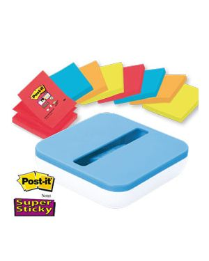 Dispenser val +8 ricarche post-it®super sticky z-notes colori ass. 76x76mm 63487_74013 by Post-it