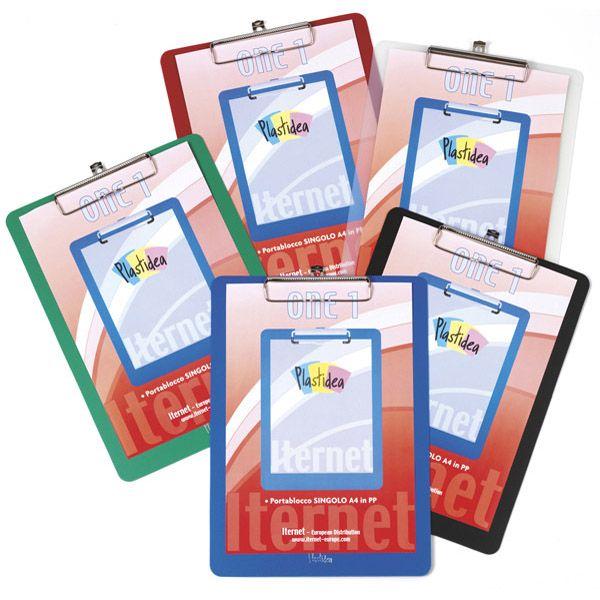Portablocco singolo a4 in pp blu Plastidea 7071BL 8028422370718 7071BL_74061 by Iternet