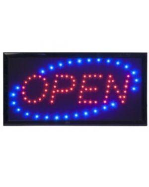 Insegna luminosa 'open' 47,5x24cm securit LS-OPEN_74544