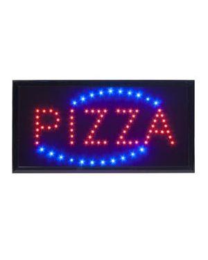 Insegna luminosa 'pizza' 47,5x24cm securit LS-PIZ1_74545