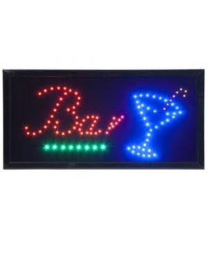Insegna luminosa 'bar' 47,5x24cm securit LS-BAR_74546