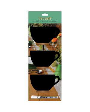 Set 3 mini lavagne segnaposto silhouette 'tazza' securit FBT-CUP-3 8718226496393 FBT-CUP-3_74561