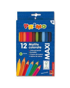 Astuccio 12 pastelli colorati maxi jumbo 100 fsc primo 510MAXI12E 8006919005107 510MAXI12E_73589
