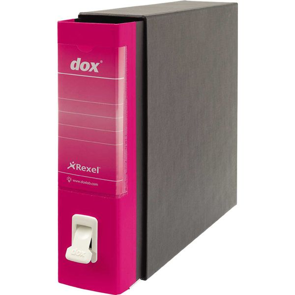 Registratore dox 2 fucsia dorso 8cm f.to protocollo rexel D26200