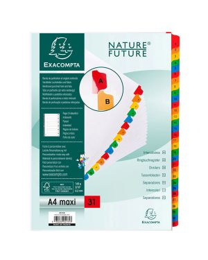 Separatore numerico 1 31/a4 maxi in cartoncino 160gr exacompta 4131E_74630 by Esselte