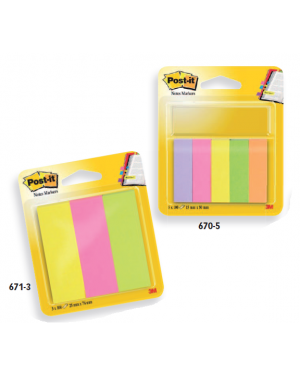 Segnapagina post-it 670-5ja-eu 250fg in 5colori index 12,7x44mm in carta 63135_74632