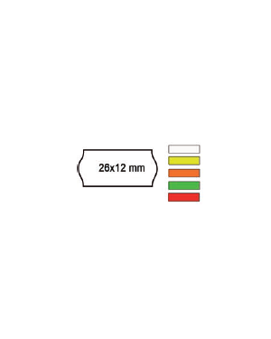 Pack 10 rotoli 1000 etich. 26x12mm onda arancio perm. Printex 2612sfr10ar_74895 by Printex