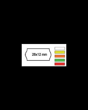Pack 10 rotoli 1000 etich. 26x12mm onda giallo perm. Printex 2612sfr10gi_74896 by Printex