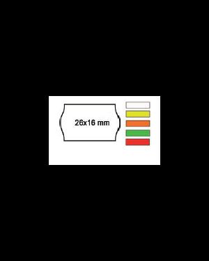 Pack 10 rotoli 1000 etich. 26x16mm onda bianco remov. Printex 2616sbr7_74902 by Printex