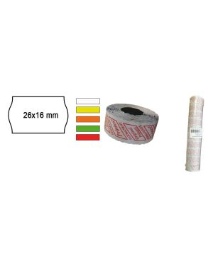 Pack 10 rotoli 1000 etich. 26x16mm onda arancio perm. printex 2616sfp7ar 8034049915249 2616sfp7ar_74903 by Printex