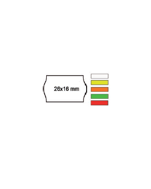 Pack 10 rotoli 1000 etich. 26x16mm onda verde perm. Printex 2616sfp7ve_74906 by Printex
