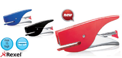 Cucitrice a pinza nuova vx15 rosso rexel 2104123_74915 by Rexel