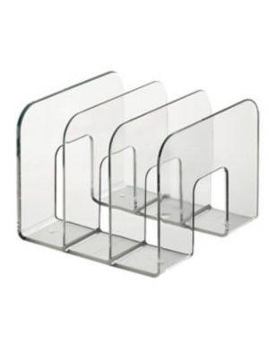 Portariviste a 3 scomparti trasparente trend durable 1701395400_75083