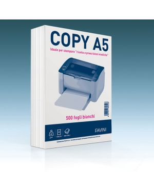 Carta copy a5 148x210mm 80gr 500fg bianca favini A620505 8007057600506 A620505_73360