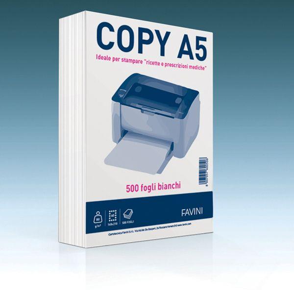 Carta copy a5 148x210mm 80gr 500fg bianca favini A620505 8007057600506 A620505_73360 by Favini