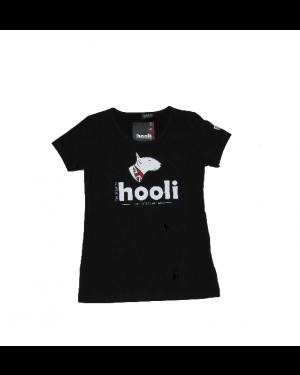 Maglietta hooli donna nera, taglia XS HOOLI 02_B_XS
