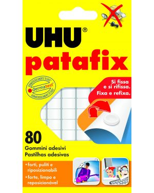 Blister 80 supporti gomma adesiva uhu patafix bianco D1620 4026700417104 D1620_53131 by Uhu