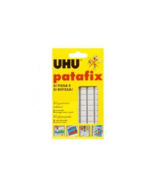 Blister 80 supporti gomma adesiva uhu patafix bianco D1620_53131 by Uhu