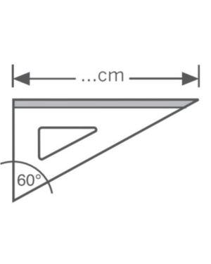 Squadra alluminio profil 60° cm 25 Arda 18126 8003438181268 18126